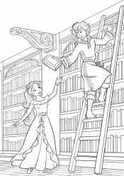 Елена в библиотеке