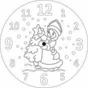 Новогодние часы со Снегурочкой