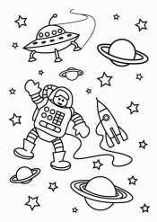 Космонавт машет рукой