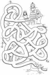 Раскраска Лабиринт для детей 5, 6 лет