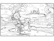 Раскраска Голди и Мишка
