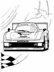 Машина в гонке
