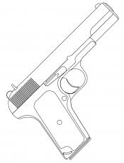 Рисунок Пистолет