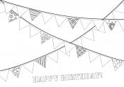 Гирлянда с днем рождения