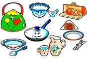 Раксраски Посуда