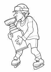 Хоккеист с кубком