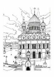 Раскраска Храм Христа Спасителя