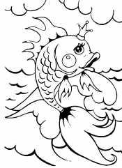 Золотая рыбка в море
