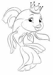 Рисунок золотая рыбка