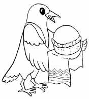 Сорока с хлебом