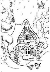 Красивый Зимний домик