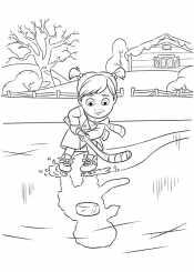 Райли играет в хоккей