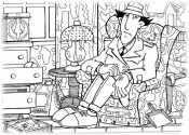 Инспектор Гаджет в кресле