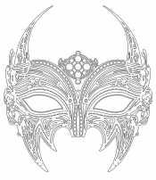 Раскраска Новогодняя маска