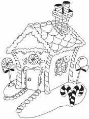 Зимний домик из сказки