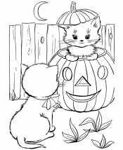 Кошечки на Хэллоуин