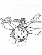 Иккинг и Беззубик в полете