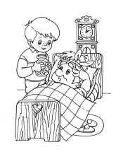 Малыш лечит Карлсона