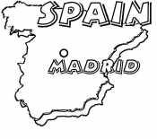 Испания. Карта