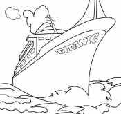 Титаник в океане