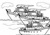 Много пароходов