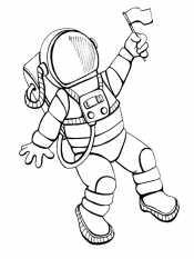 Космонавт и флаг
