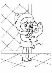 Котенок Гав и девочка