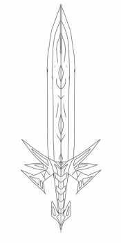 Красивый меч