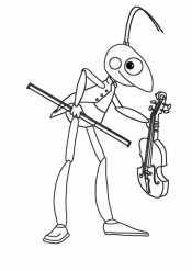 Кузя со скрипкой