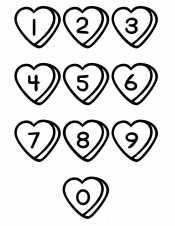 Цифры в сердечках