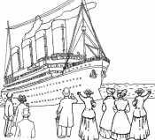 Титаник на причале