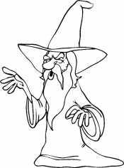 Раскраска Волшебник