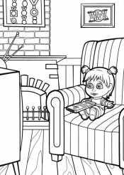Маша смотрит телевизор