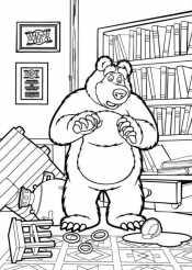 Картинка Маша и медведь