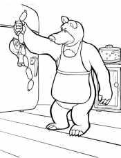 Маша и миша на кухне