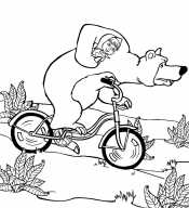 Миша на велосипеде