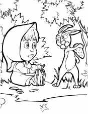 Маша и зайчик