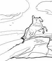 Раскраска Медный всадник