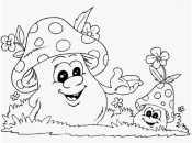 Гриб мухомор раскраска для детей