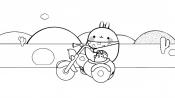 Моланг на мотоцикле