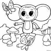 Чебурашка с бабочкой