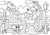 Чебурашка строит школу