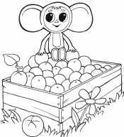 Чебурашка на яблоках