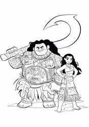 Моана вместе с Мауи