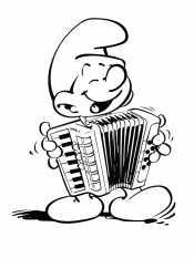 Смурфик музыкант