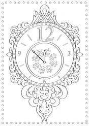 Рисунок Новогодние часы