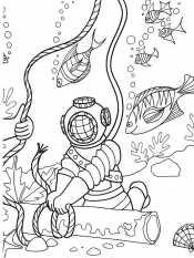 Аквалангист на дне морском