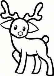 Смешной олень