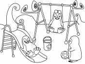 Пингвины на детской площадке