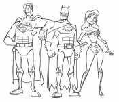 Чудо-женщина, Супермен и Бэтмен
